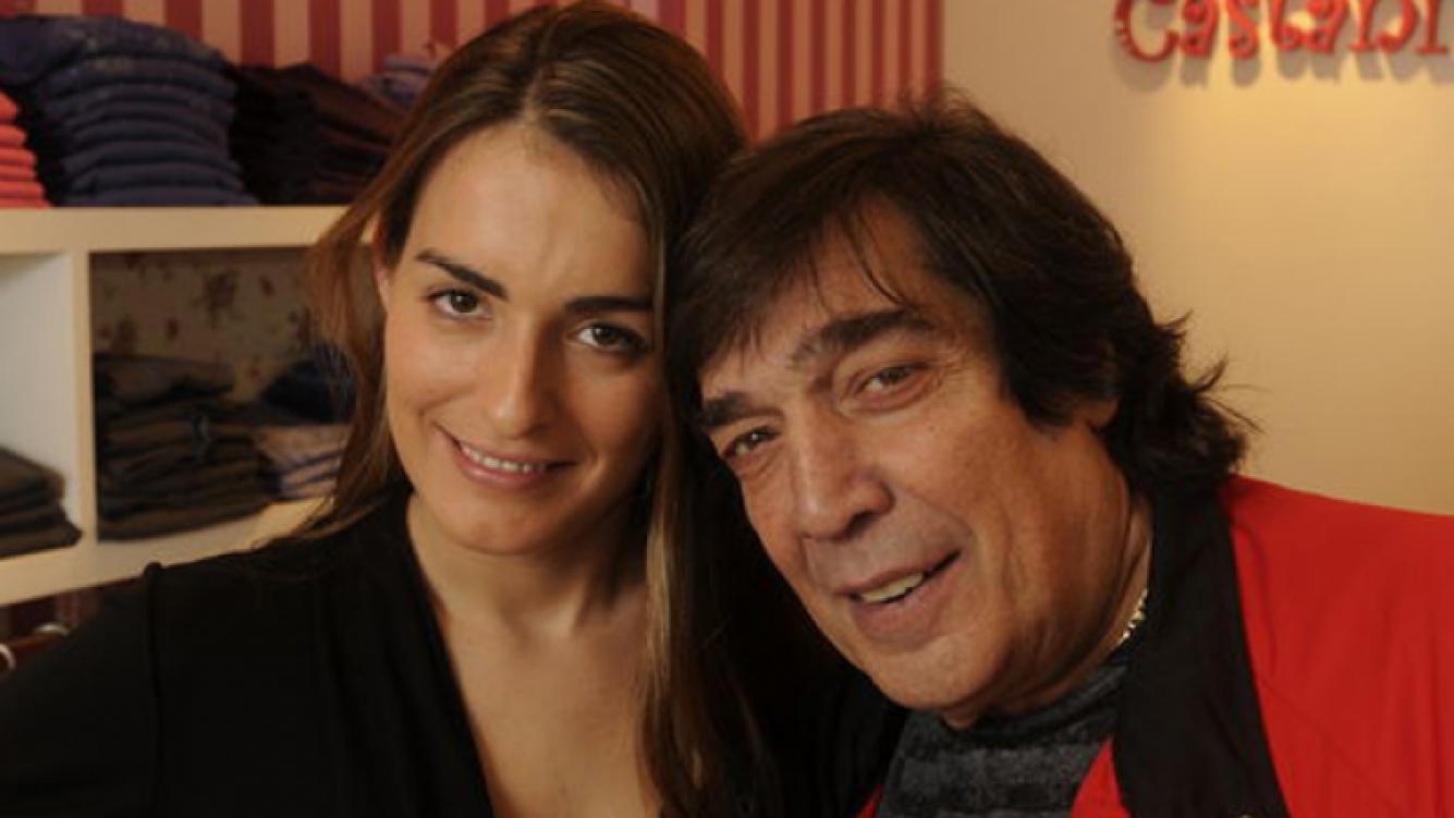 Cacho Castaña y Andrea. (Foto: Web)