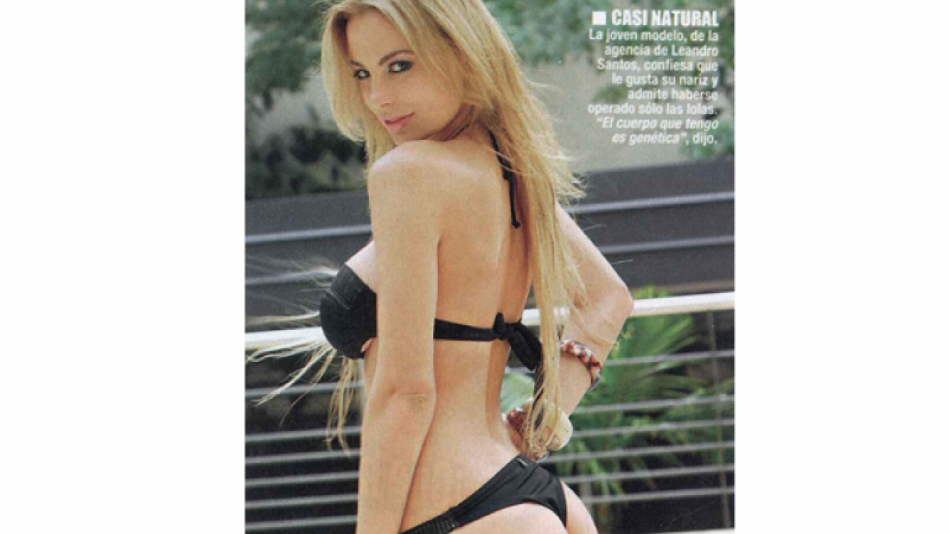 Erika Mitdank, la Bebota de ShowMatch. (Foto: revista Paparazzi)