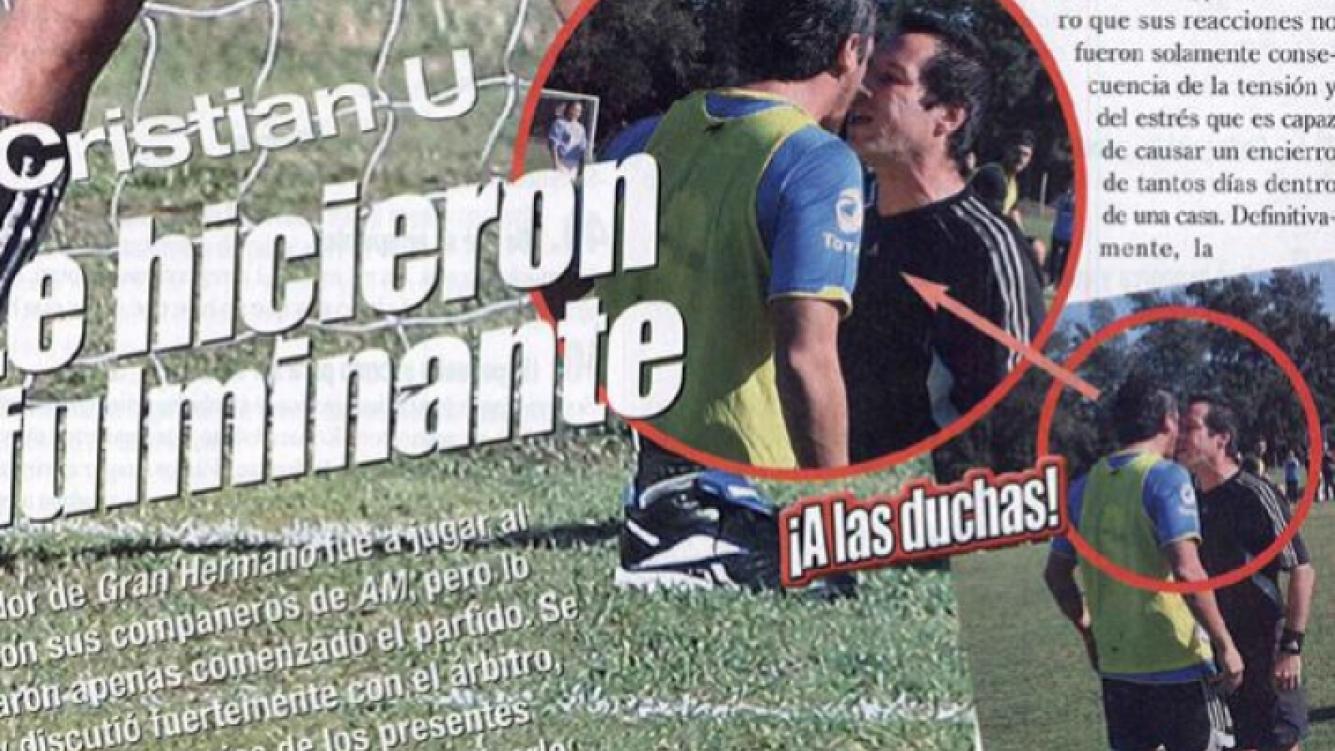 Cristian U. fue expulsado de un partido de fútbol. (Foto: revista Paparazzi)