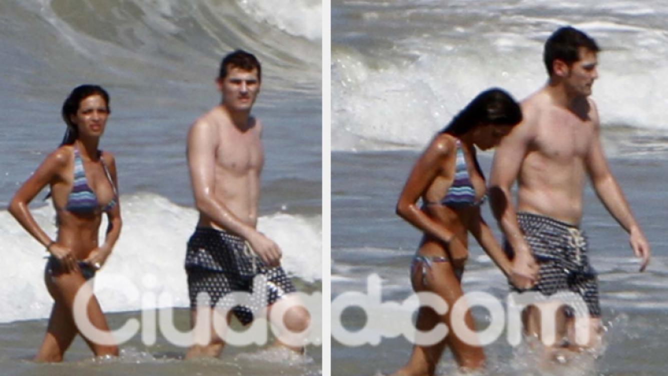 Sara Carbonero e Iker Casillas, de vacaciones en Trancoso. (Foto:Sothern Press).