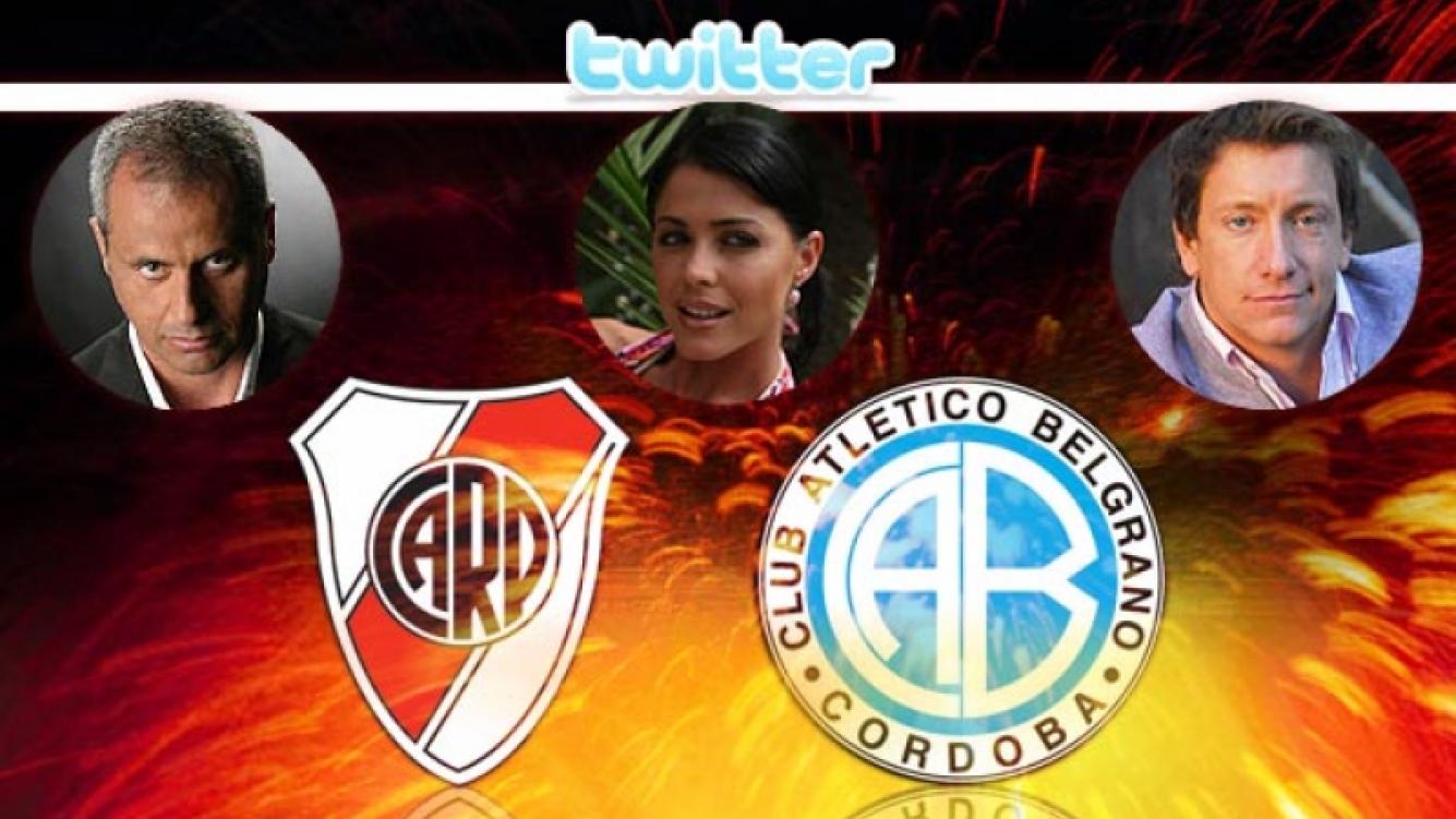 River se juega la vida futbolística ante Belgrano. Jorge Rial, Pamela David y Nico Vázquez lo saben.