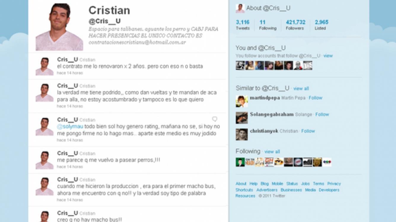 Los duros mensajes de Cristian U. a la producción de Sabado Bus y Telefe.