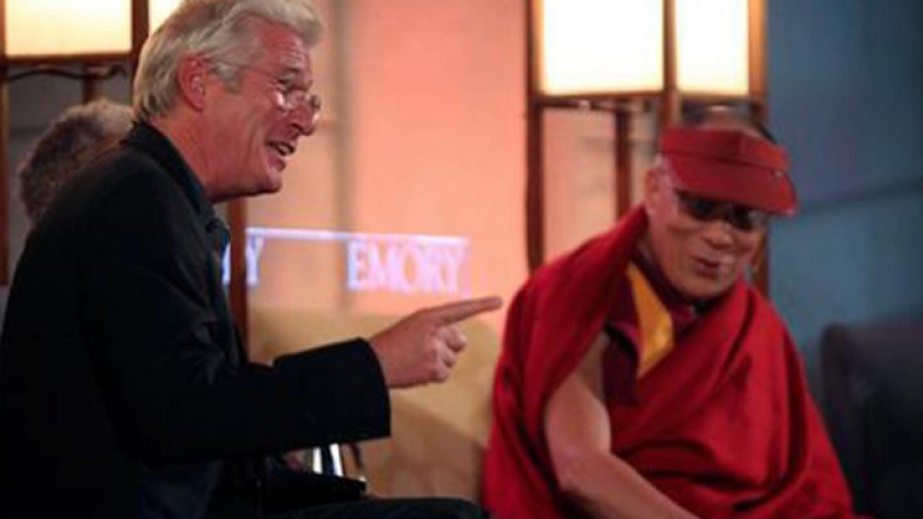Richard Gere junto al Dalai Lama en Atlanta, durante el 2010. (Foto: Web)