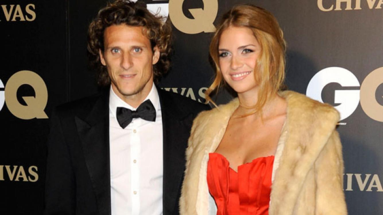 Diego Forlán y Zaira Nara, en tiempos felices (Foto: Web).