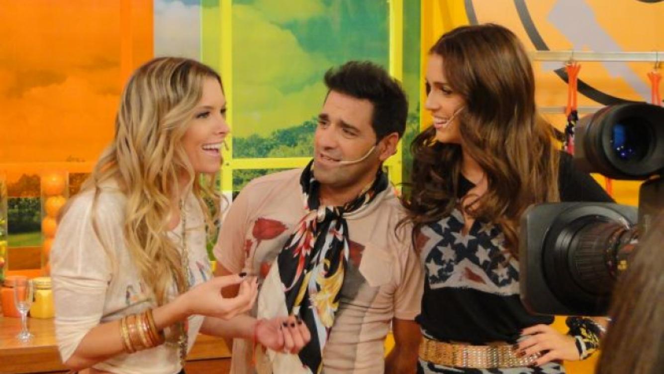 Zaira Nara, Mariano Iúdica y Sofía Zámolo en La cocina del Show. (Foto: Ideas del Sur).