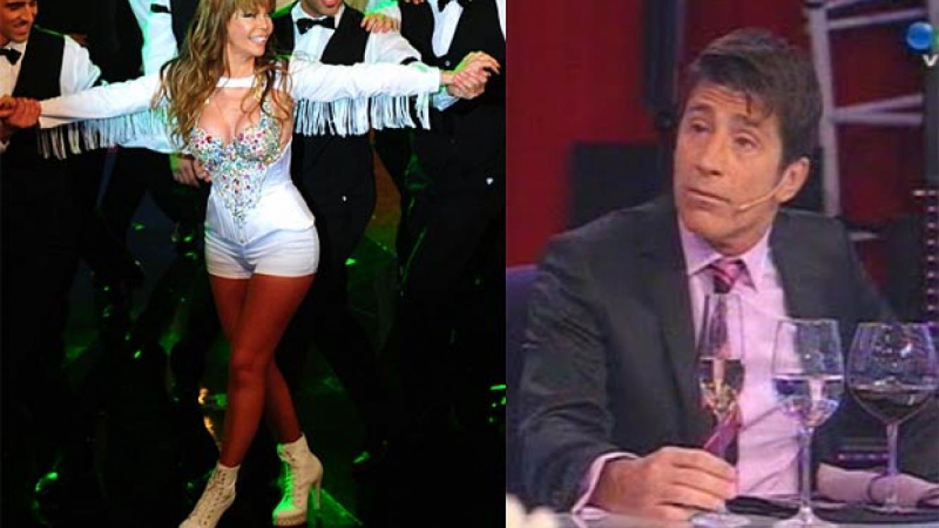 "Graciela Alfano ""mira de reojo"" a Nico Repetto. Festejó el rating por Twitter."