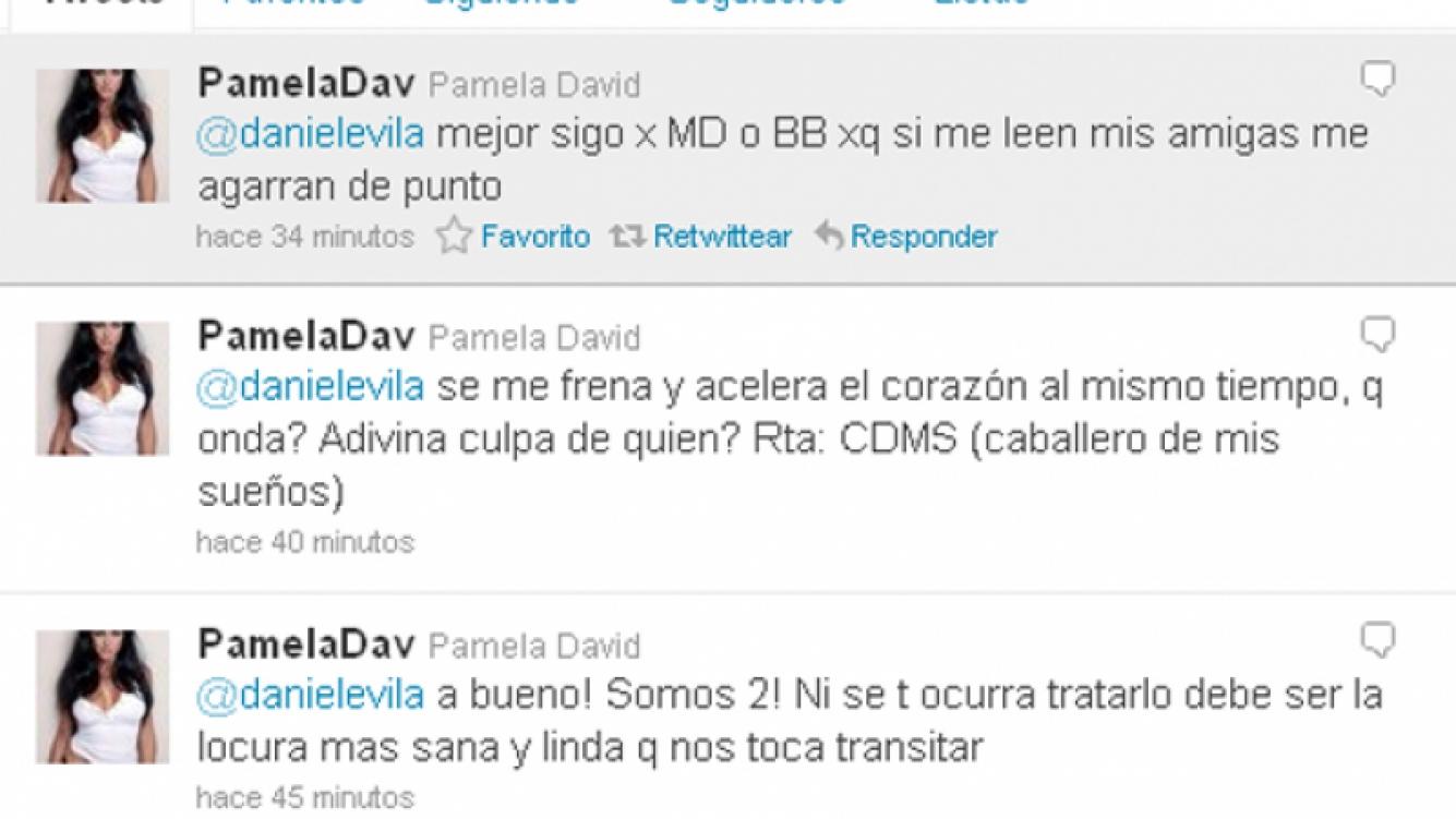 Los amorosos tweets de Pamela para su pareja (Foto: Web).