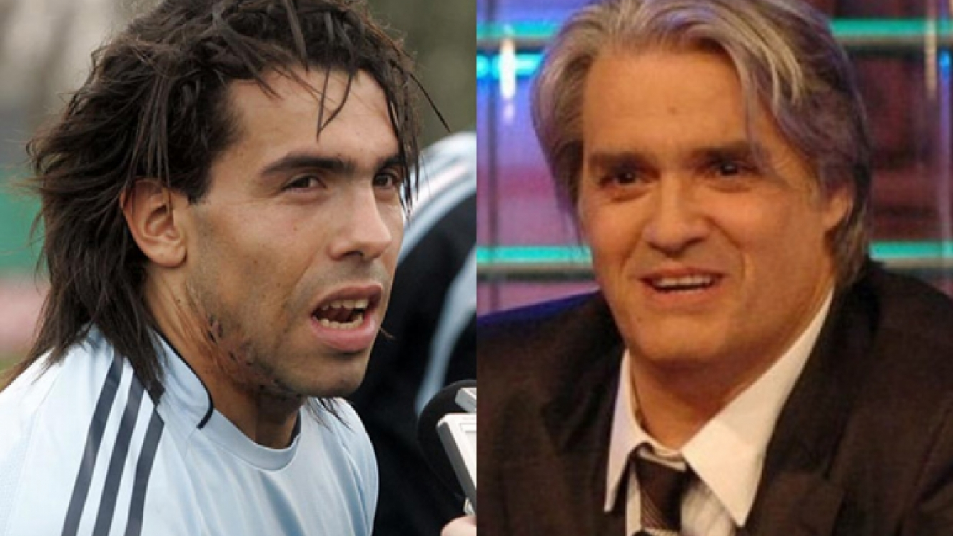 Cralos Tevez y Roberto Pettinato, enfrentados. (Foto: Web)