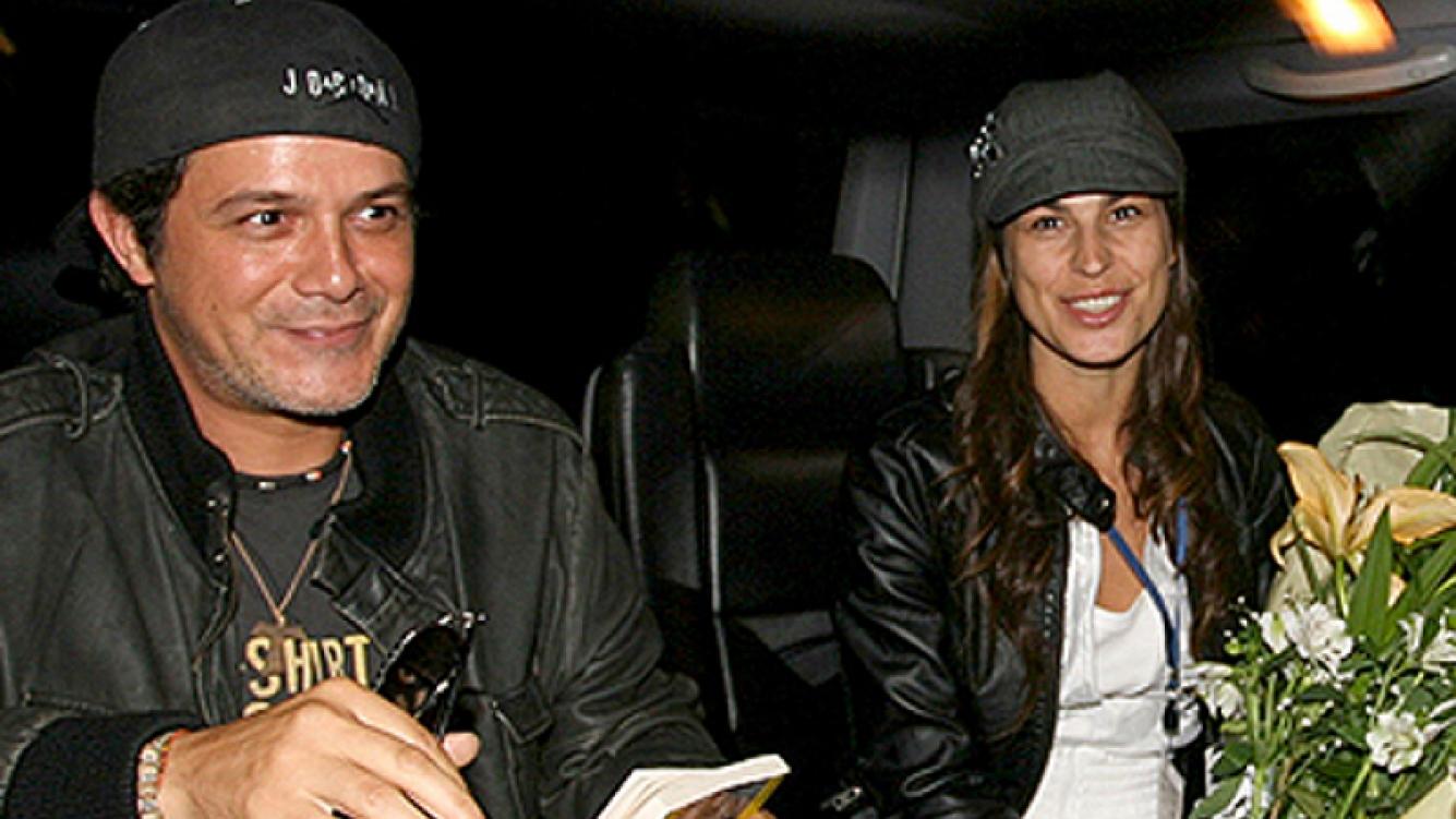 Sanz junto a su actual mujer, Raquel Perera, a punto de dar a luz. (Foto: Web)
