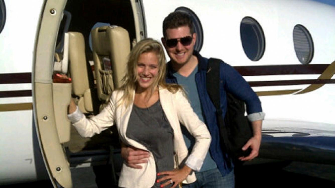 Luisana y Michael, a punto de viajar a Las Vegas (Foto: Twitter de Luisana Lopilato).