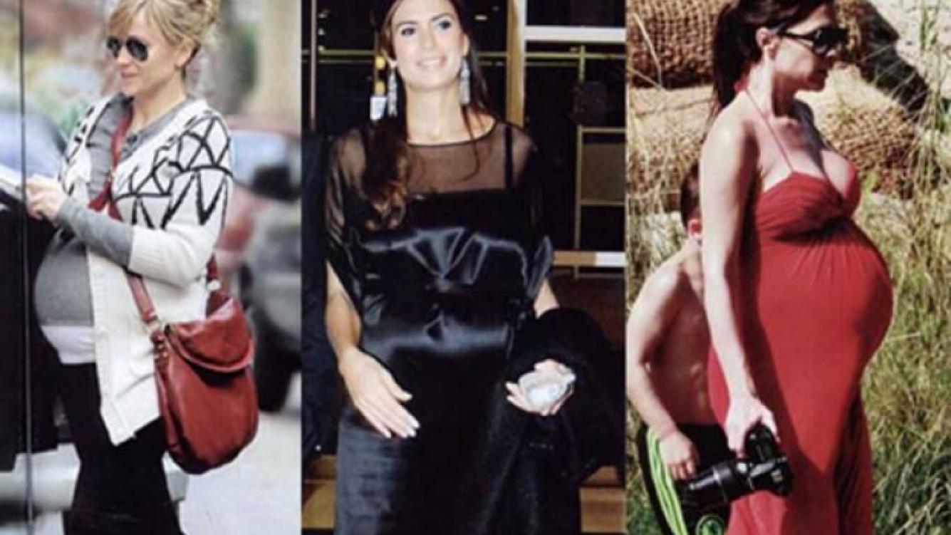 Brenda, Juliana y Victoria, mamás famosas y cool (Foto: revista ¡Hola! Argentina)