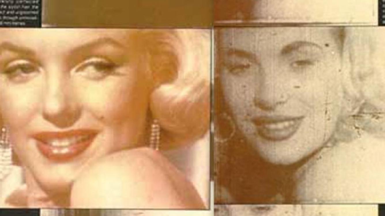 Izq: la Marilyn Monroe conocida. Der: una imagen poco conocida de la diva de Hollywood.