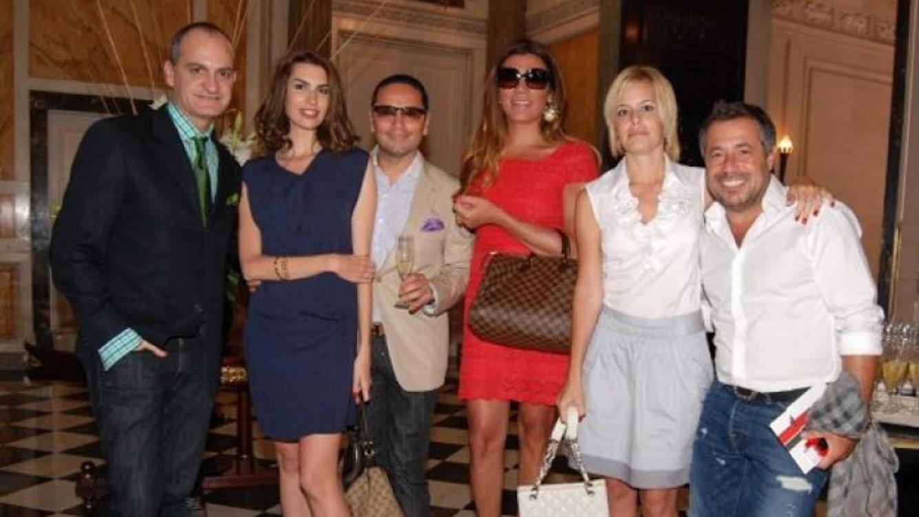 Un té de amigos, con Florencia, Maia, Sarkany, Medina Flores y Laurencio Adot.