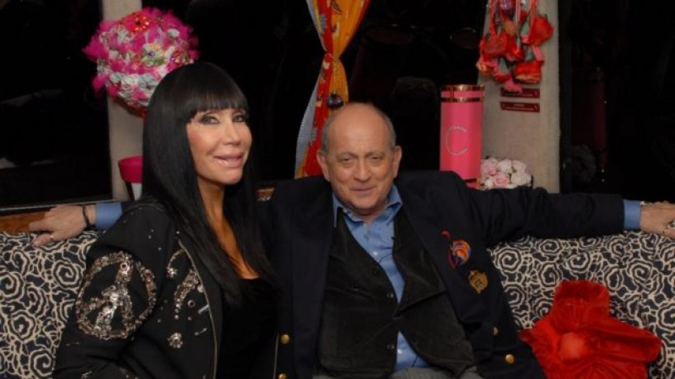 Moria Casán y Chiche Gelblung en Esta noche con Moria Casán. (Foto: Artear Prensa).