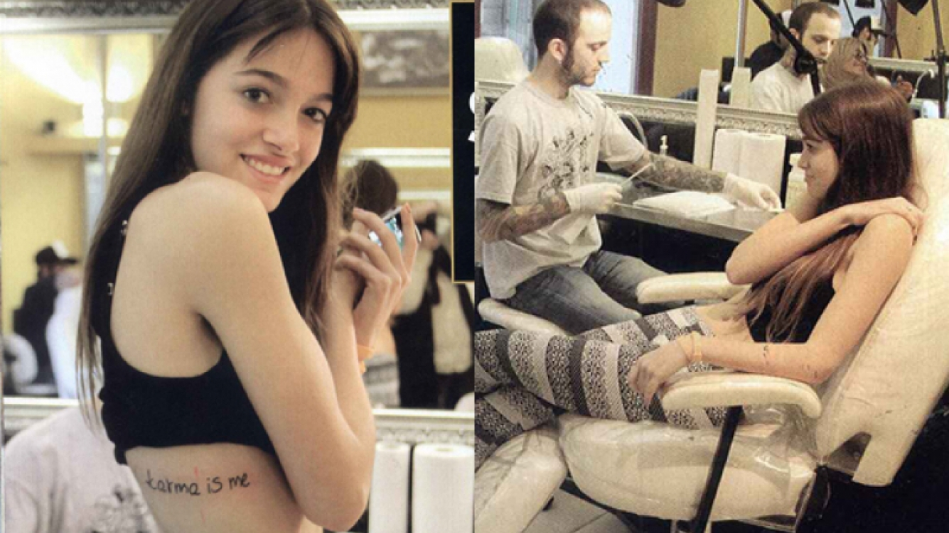 Oriana Sabatini y su tatuaje. (Foto: revista Hola)
