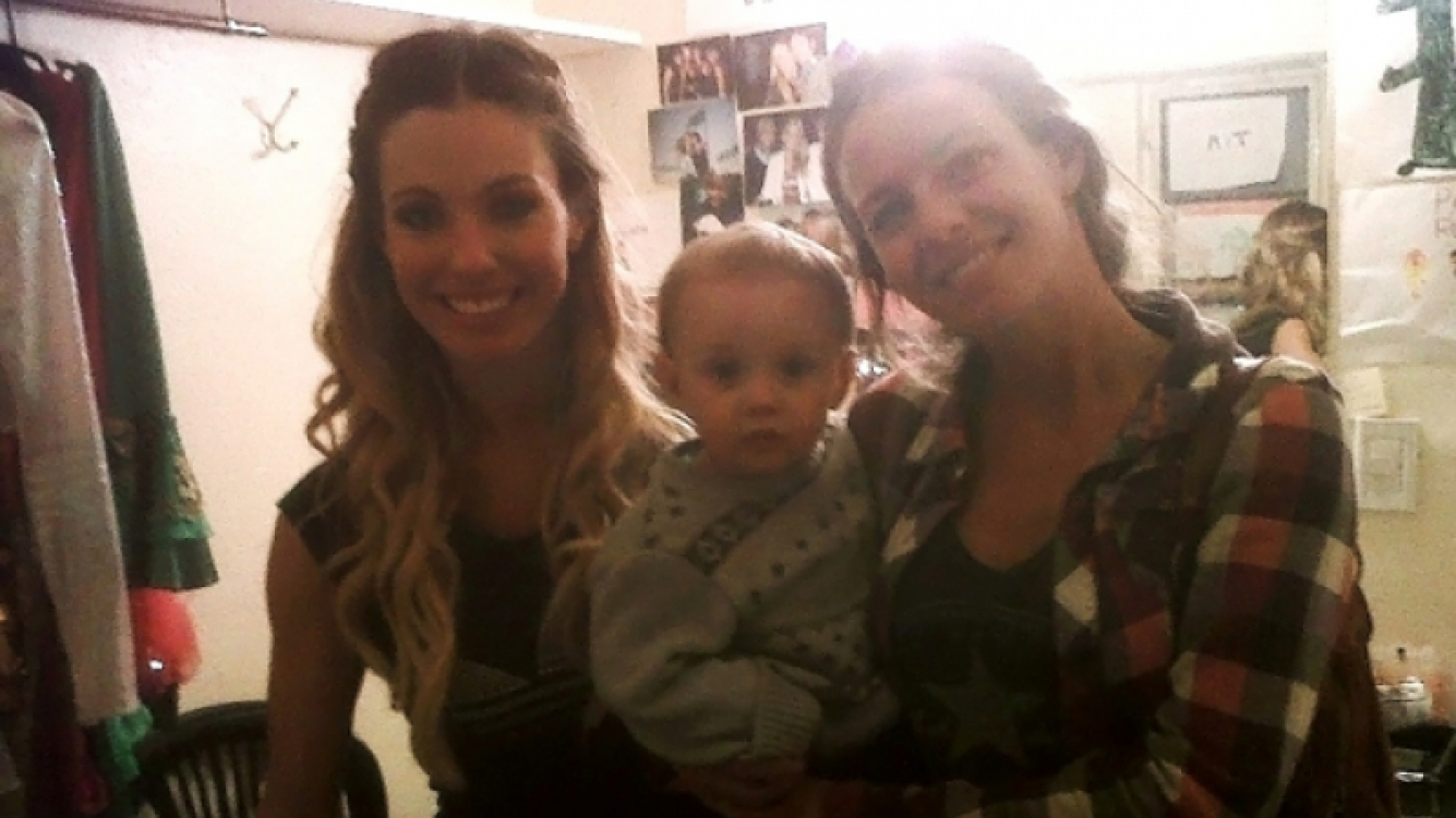 Rocío y Geraldine junto a Matías, el hijo menor de Neumann (Foto: Ciudad.com).