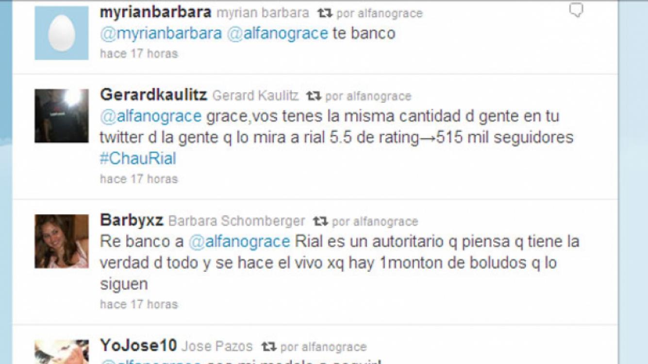 Captura de pantalla de la cuenta de Twitter de Alfano.