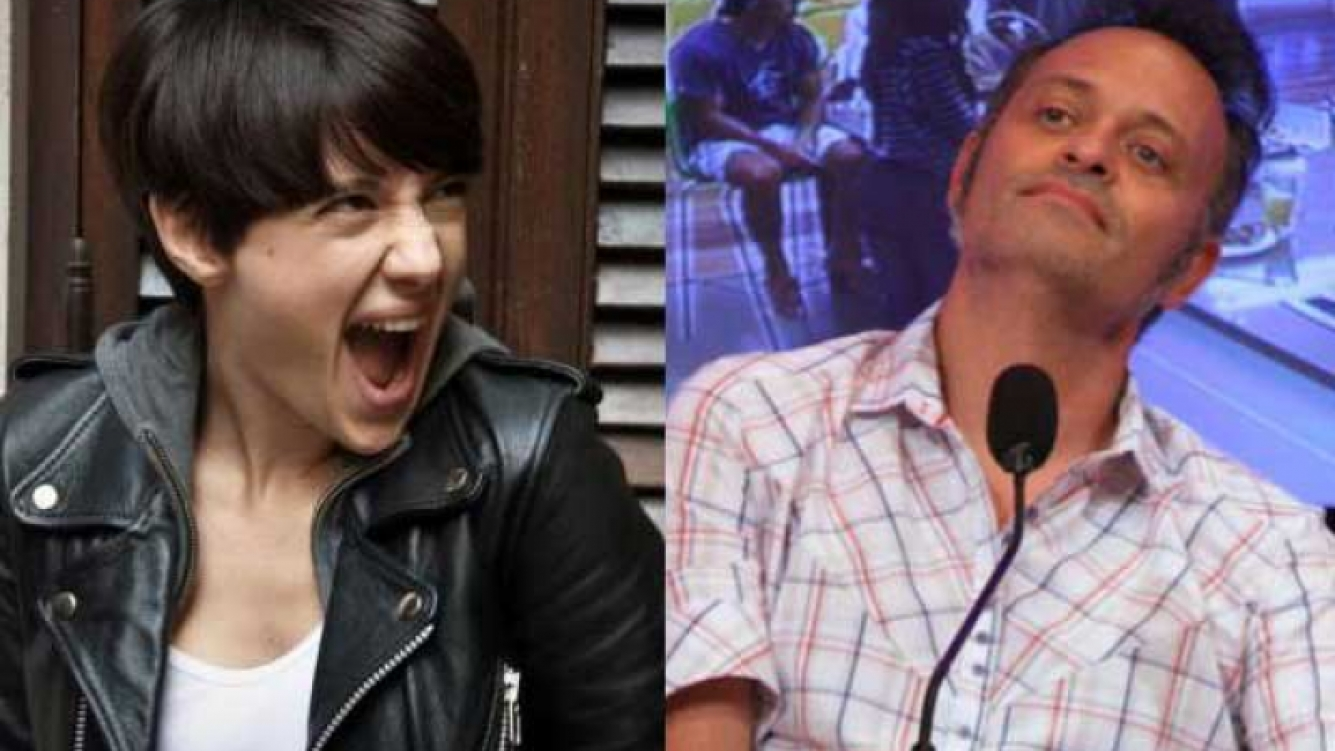 Malena Pichoto le pegó a Augusto Tartufoli por su imitación de TMZ en AM. (Foto: Web)