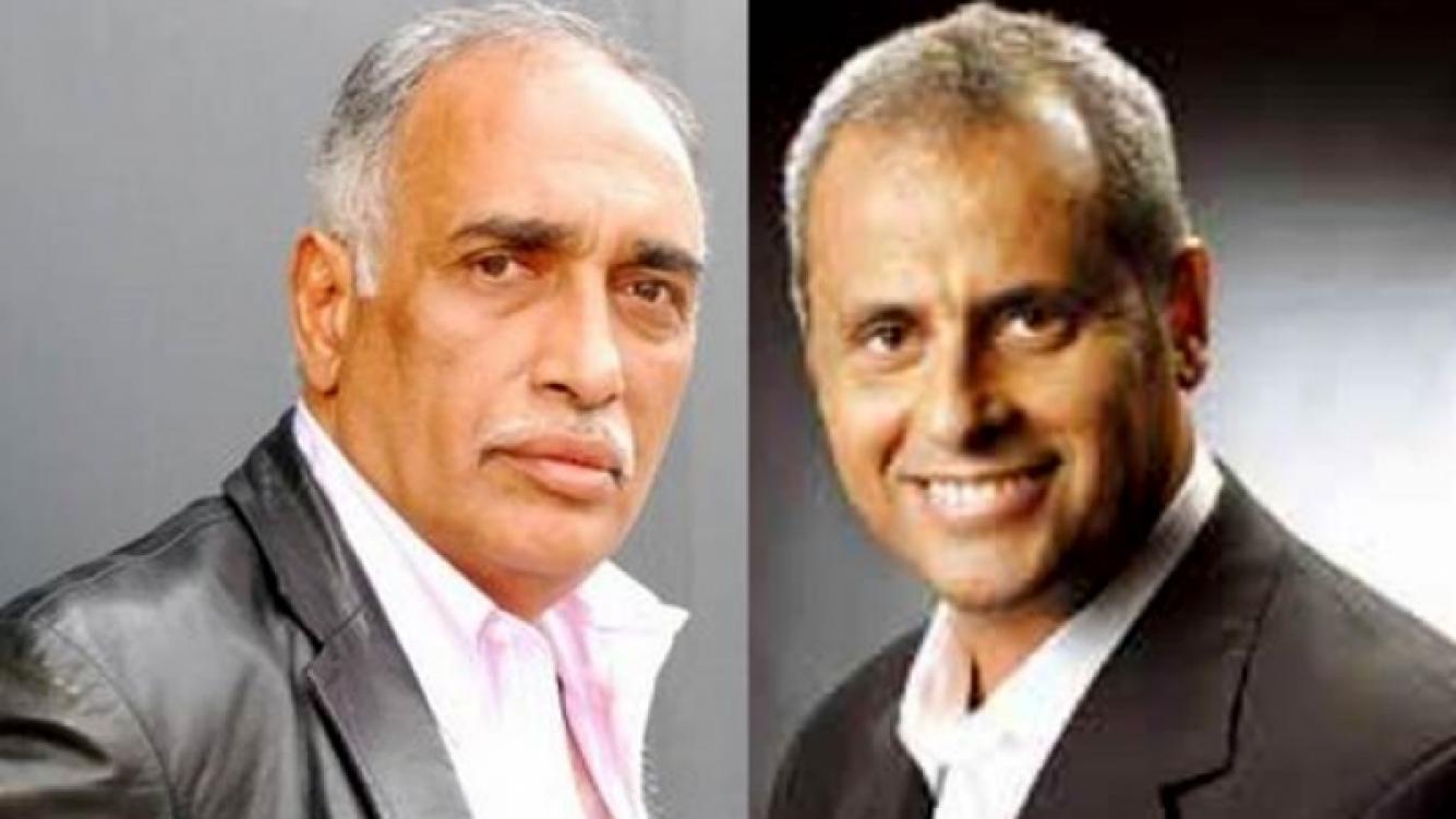 El Negro Oscar González Oro y Jorge Rial. (Fotos: Web)