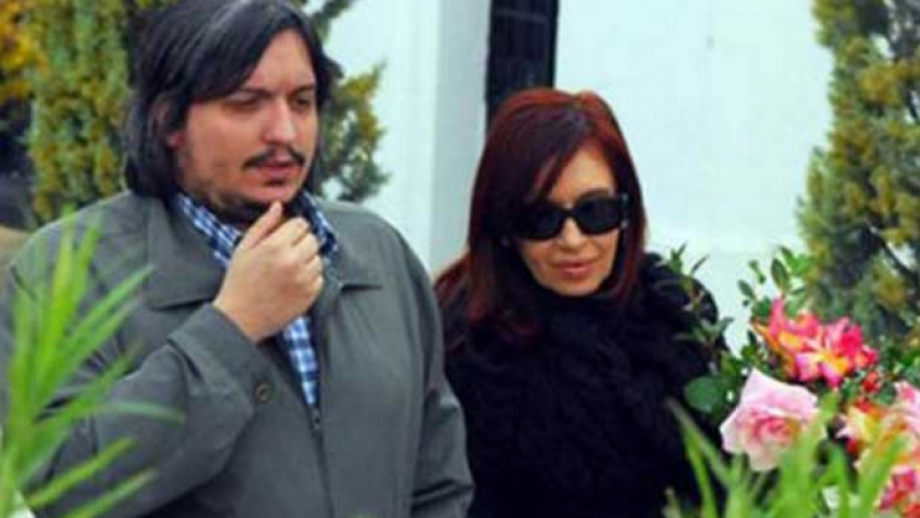 Máximo Kirechner y Cristina Fernández. (Foto: Web).