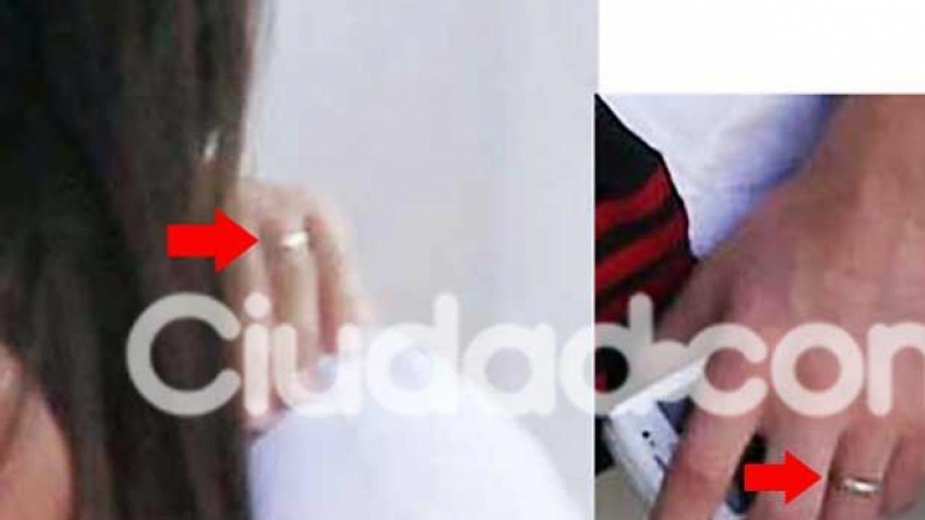 Los anillos de ¿casados? de Lionel Messi y Antonella Roccuzzo. (Fotos: Southern Press)