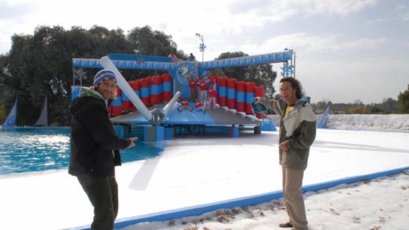 Culini y Eugenio Weinbaum en Hombre al agua bajo cero. (Foto: El Trece).
