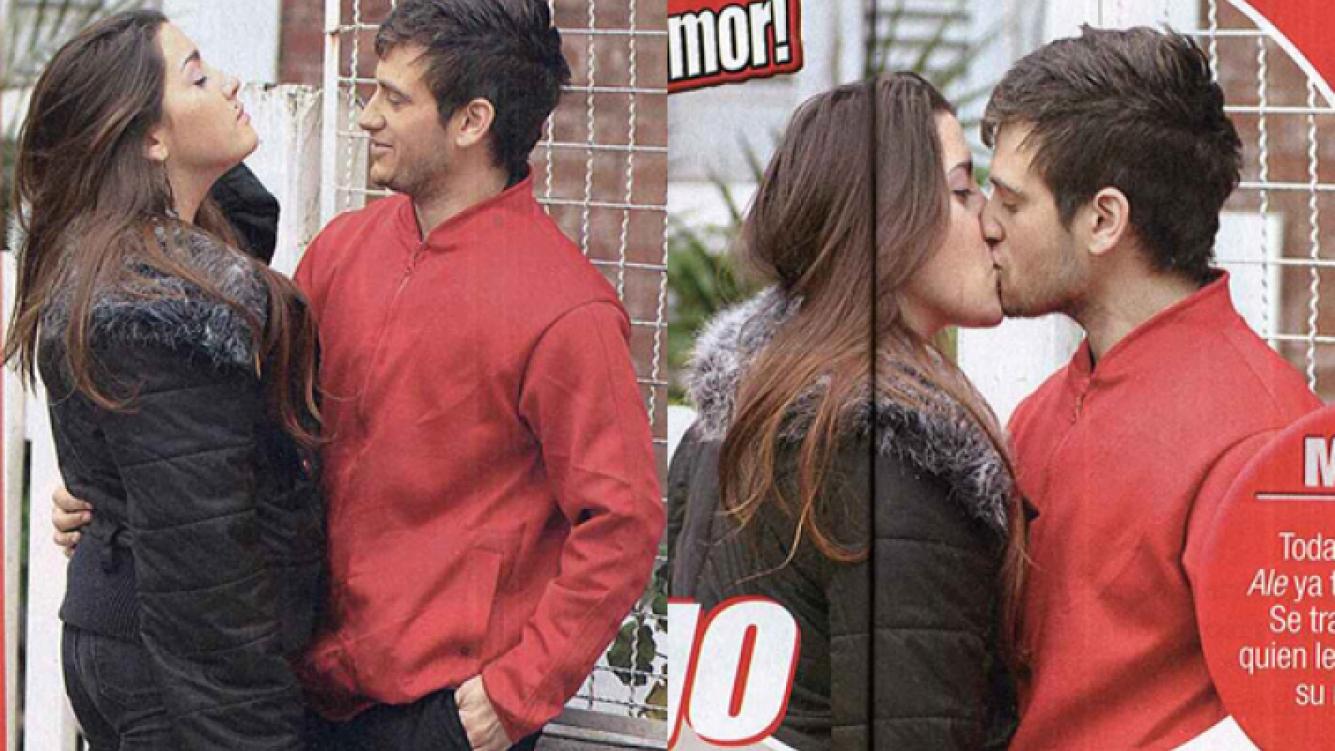 El beso de Micaela Suppa y Alejandro Iglesias. (Foto: revista Paparazzi)