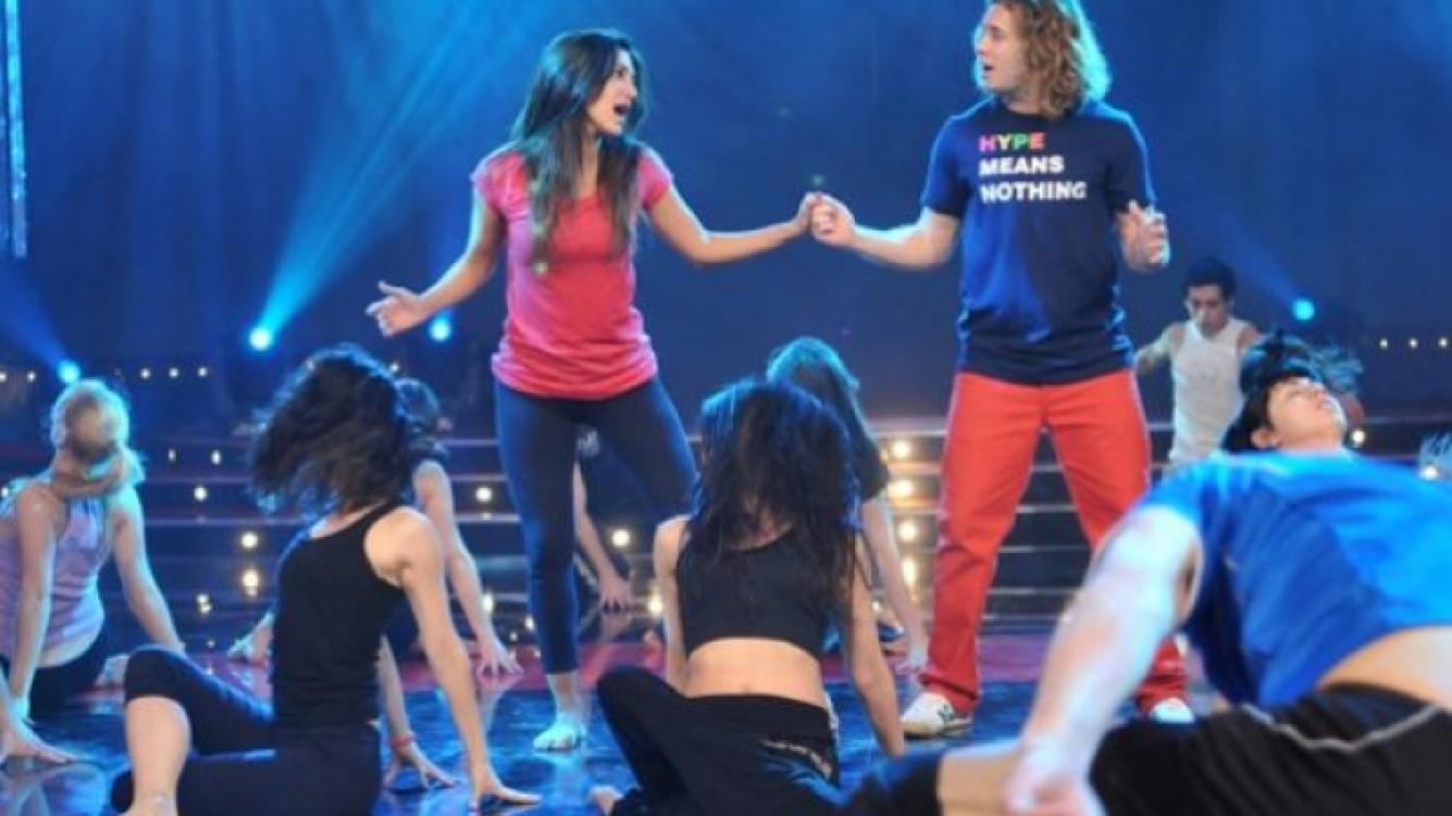 Silvina Escudero y Tacho Riera en el ensayo de su musical. (Foto: prensa Ideas del Sur)