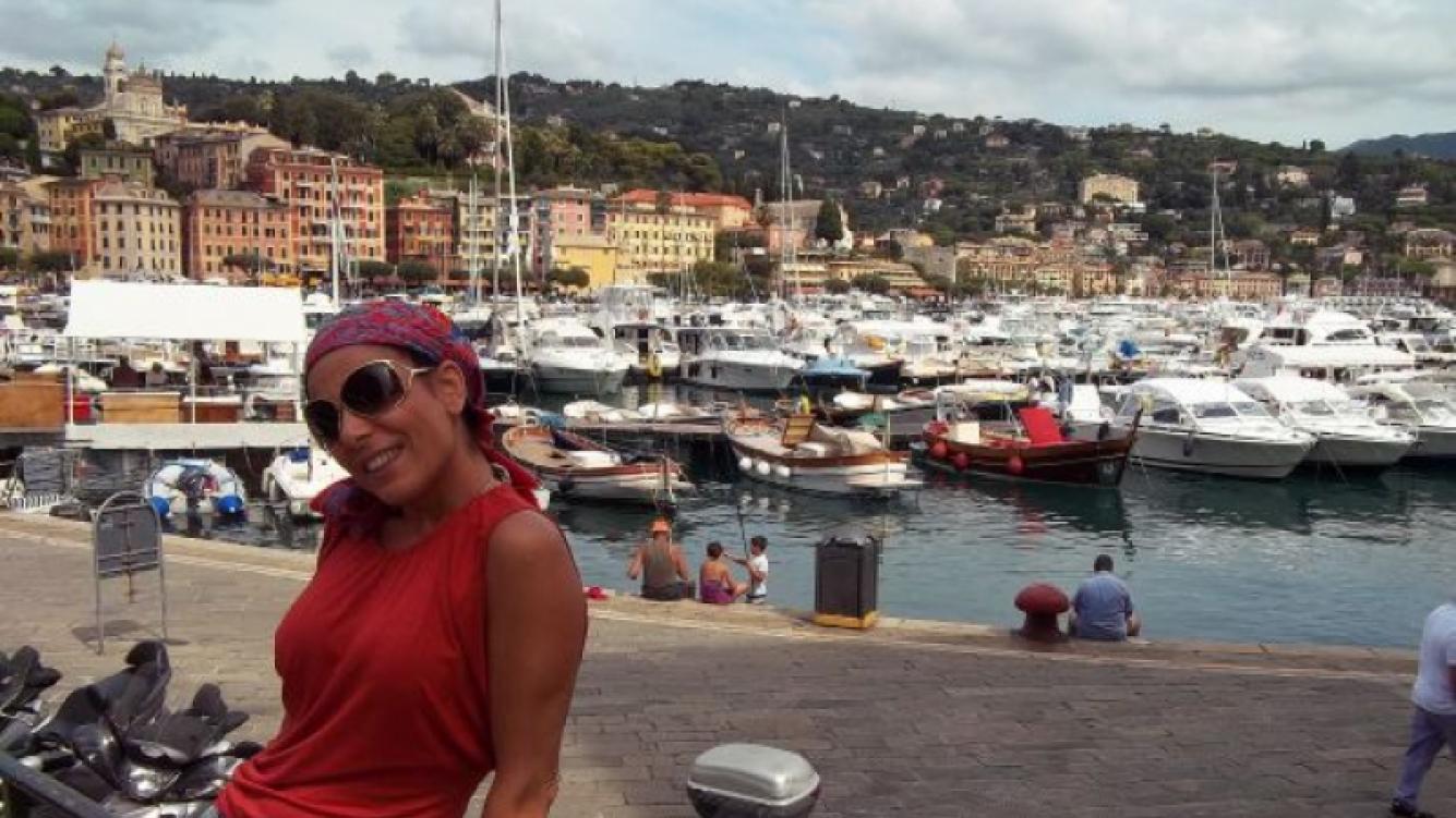 Camino a Portofino, Italia. (Foto: Album personal Iliana Calabró)