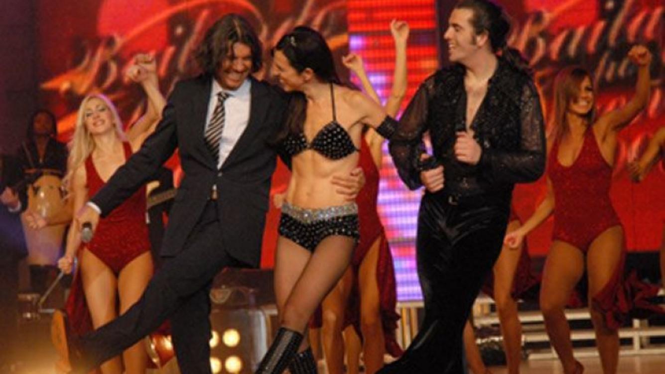 Marcelo Tinelli y Paula Robles, juntos en Bailando. Una imagen que por ahora no se repetirá (Foto: Web)