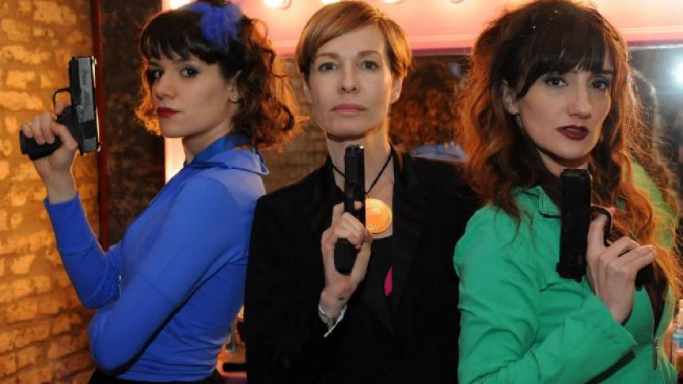 Gloria Carrá, Jorgelina Aruzzi y Violeta Urtizberea, las chicas poderosas. (Foto: El Trece)