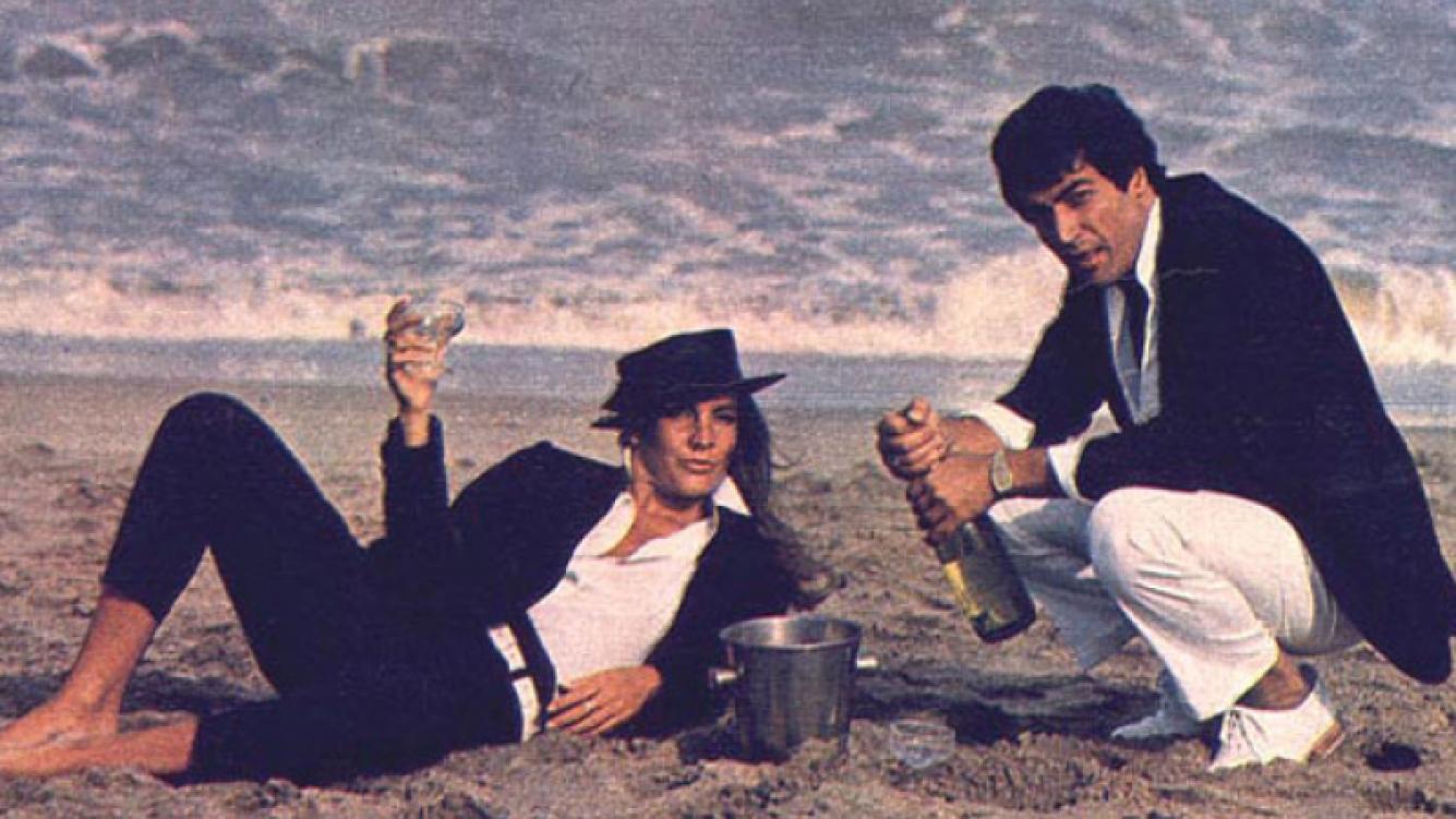 Mónica y Cacho, en una temporada juntos en Mar del Plata, hace 25 años.