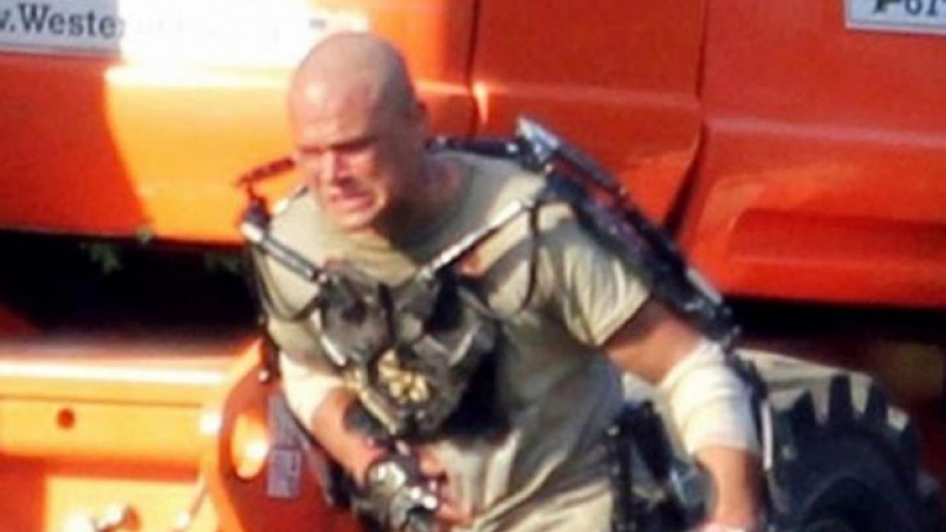 Primeras imágenes del rodaje de Matt Damon en Elysium, su nuevo film.