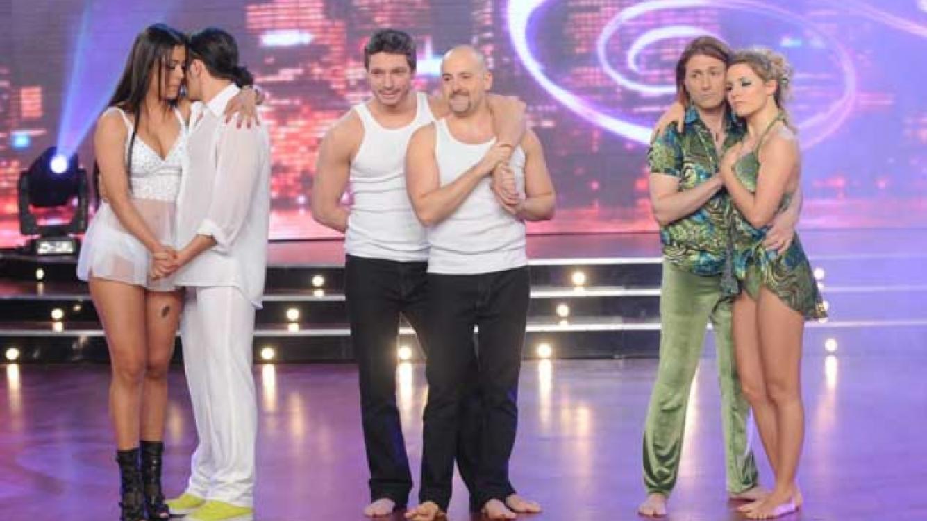 Larissa Riquelme, José María Muscari, y Daniel Gómez Rinaldi antes del duelo telefónico en Bailando 2011. (Foto: Ideas)