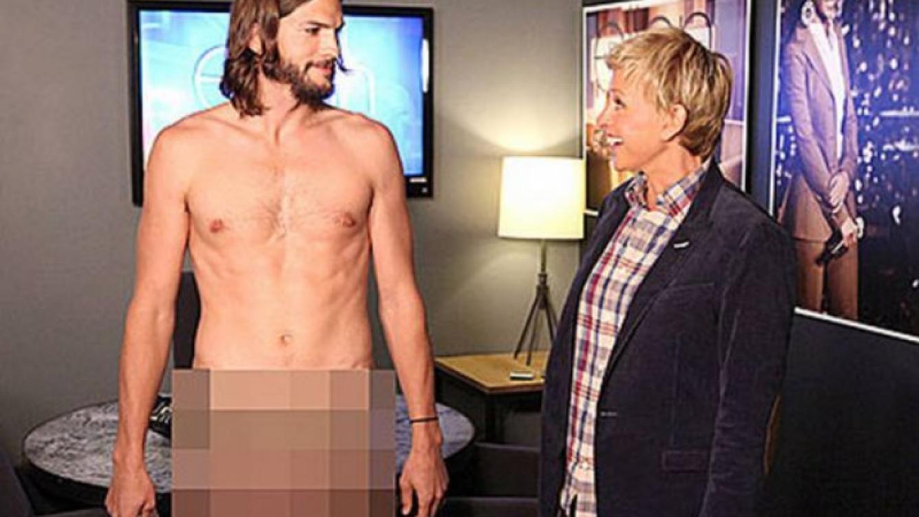 El desnudo de Ashton Kutcher en un programa de TV. (Foto: Web)