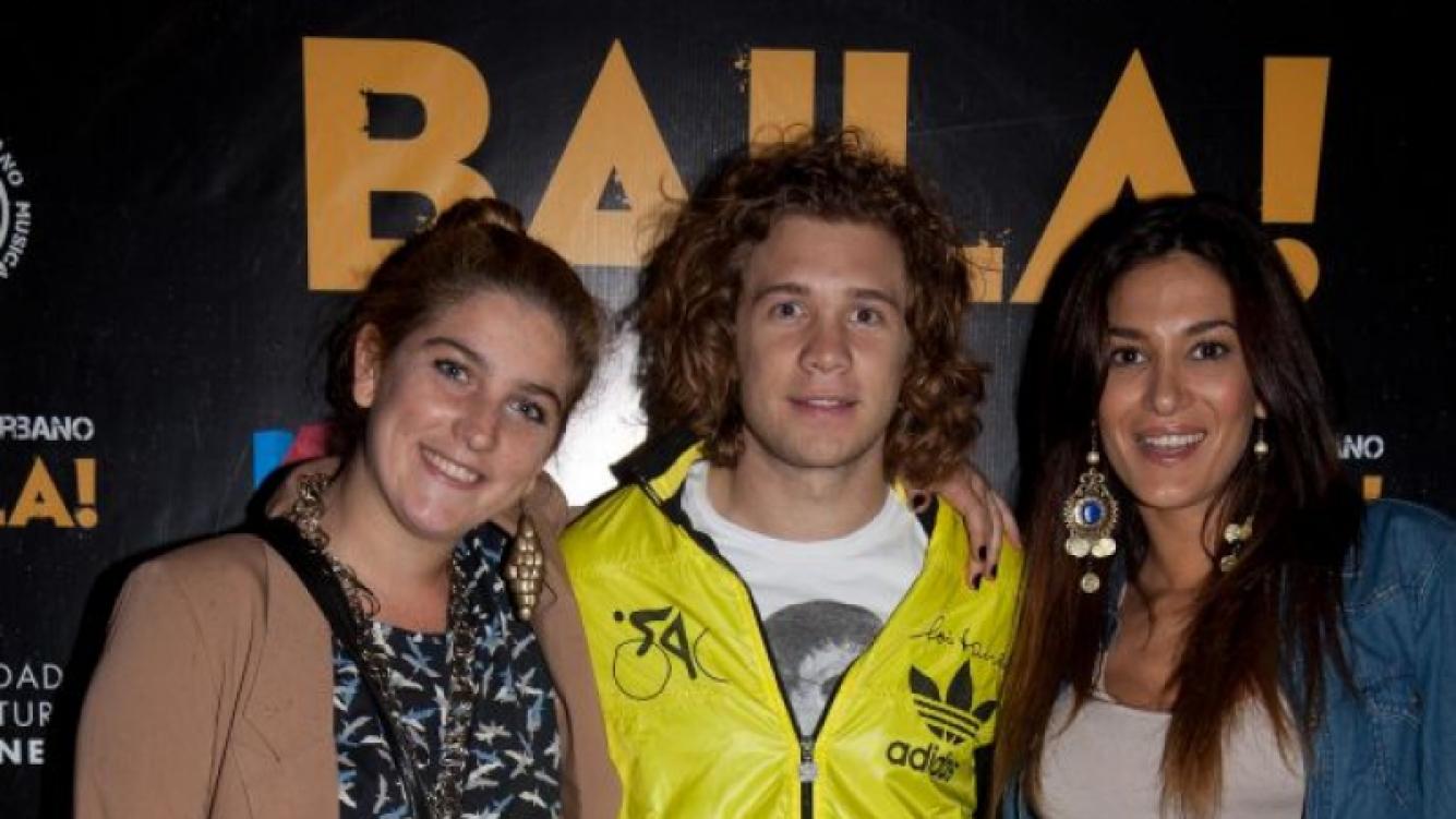 Nicolás Tacho Riera y Silvina Escudero, junto a Juana Repetto (Foto: .Tiff).