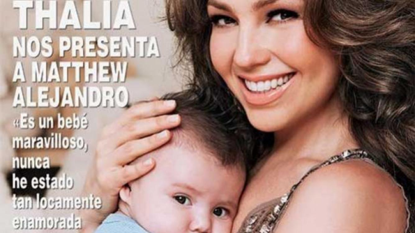 Portada de la revista Hola! Mexico con Thalía y su hijo.