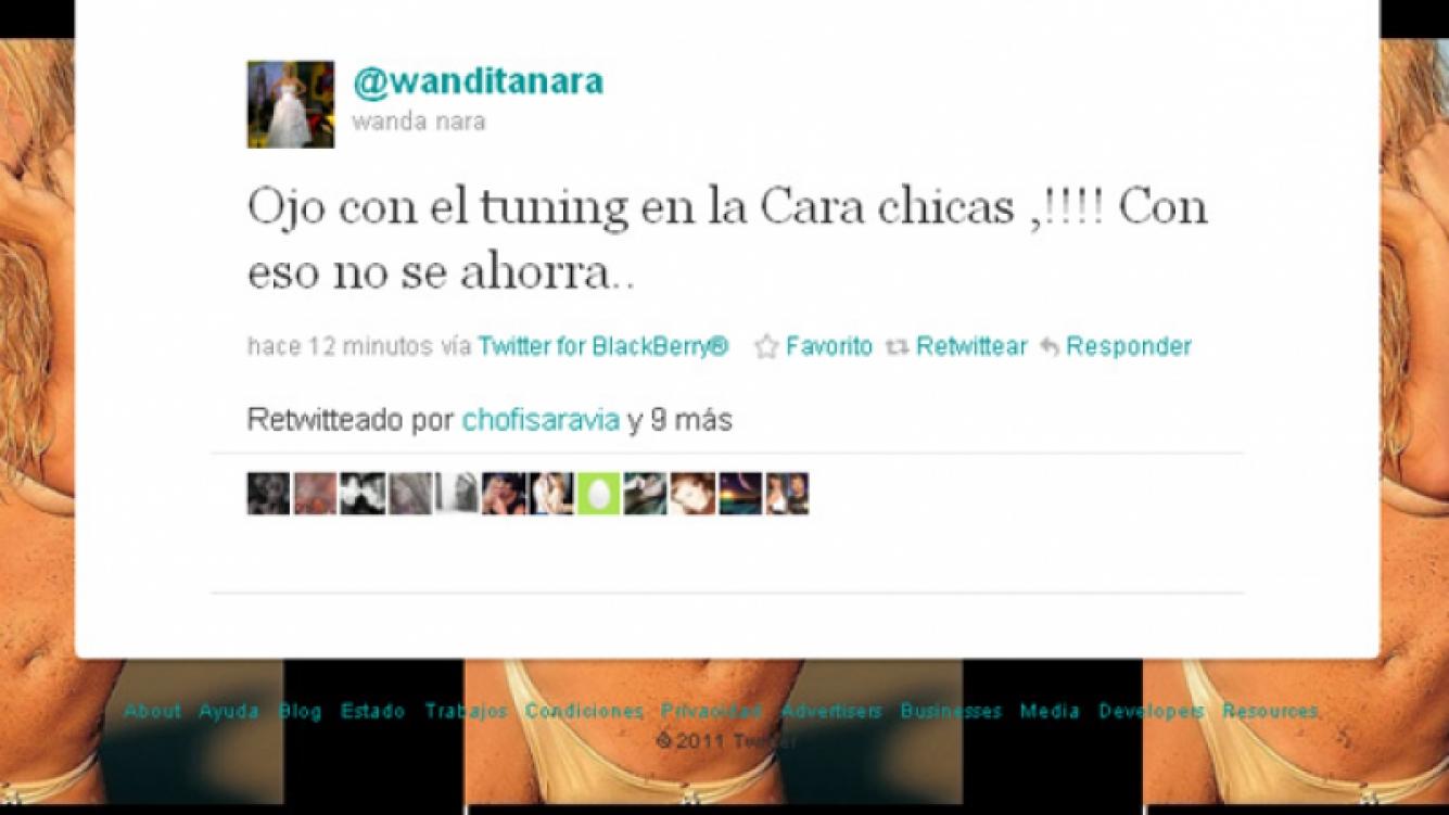 El mensaje que publicó Wanda en Twitter (Foto: captura de Twitter)