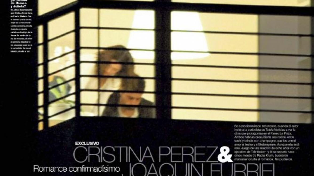La primera foto de Joaquín Furriel y Cristina Pérez juntos. (Foto: Gente)