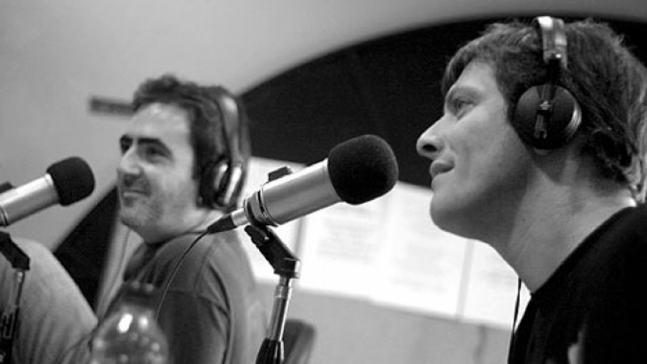 Eduardo de la Puente y Mario Pergolini en Cuál es?. (Foto: web)