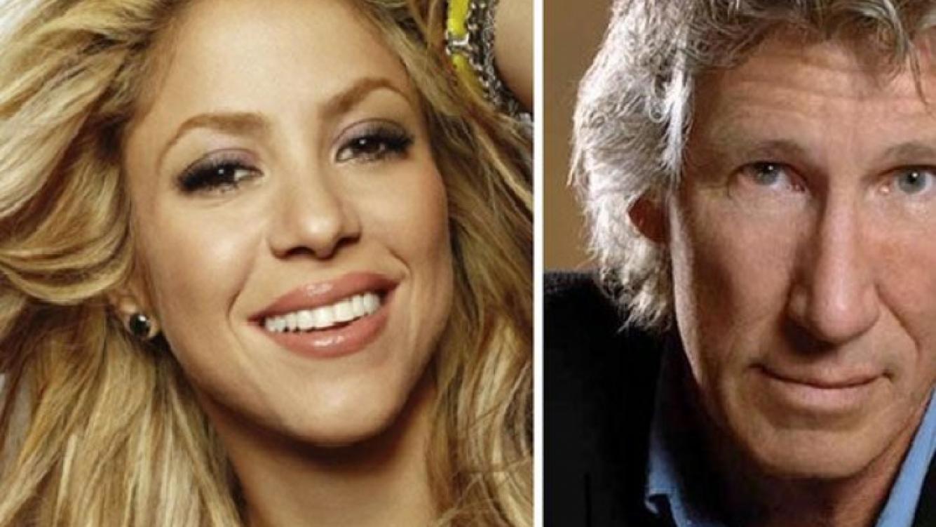 Shakira y Roger Waters. (foto: Web)