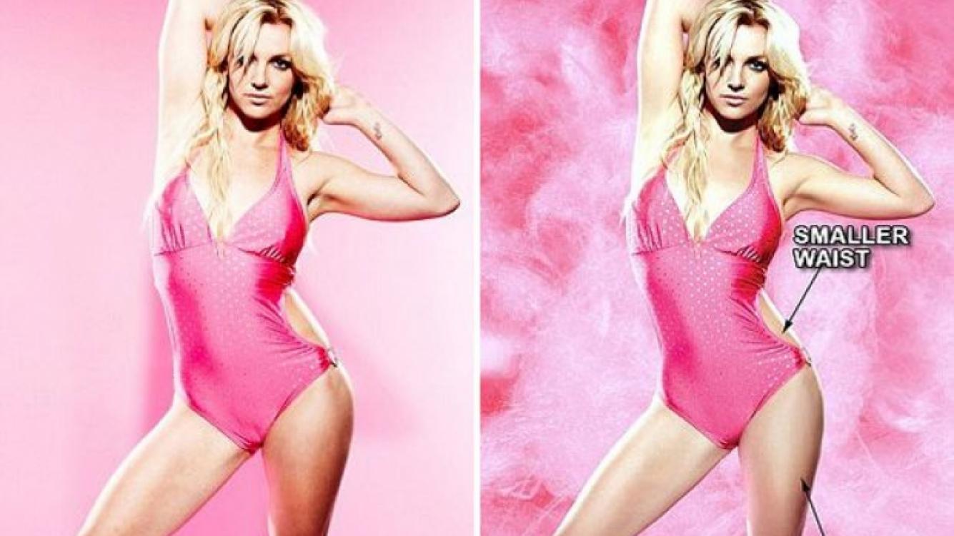 Britney Speras con y sin Photoshop. (Foto: La patilla).