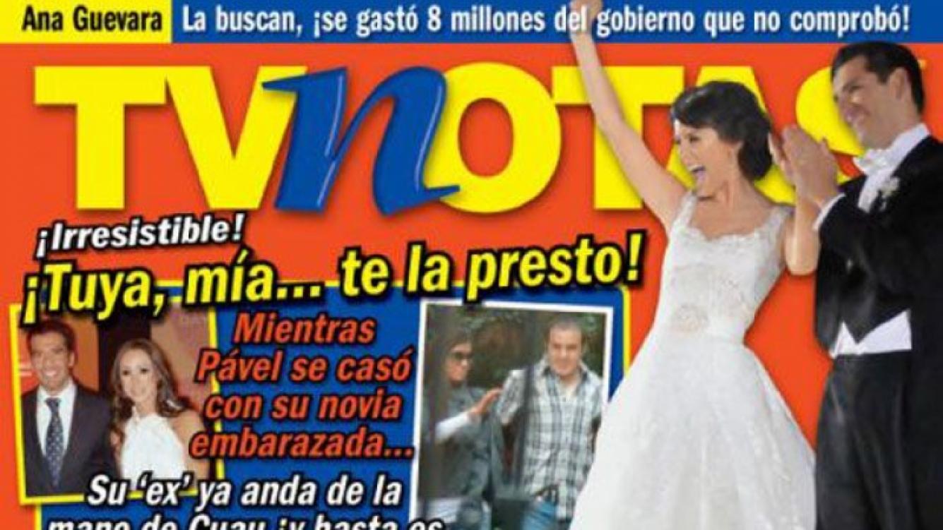 Shakira y Gerard Piqué en la tapa de la revista TVNotas (Foto: Web).