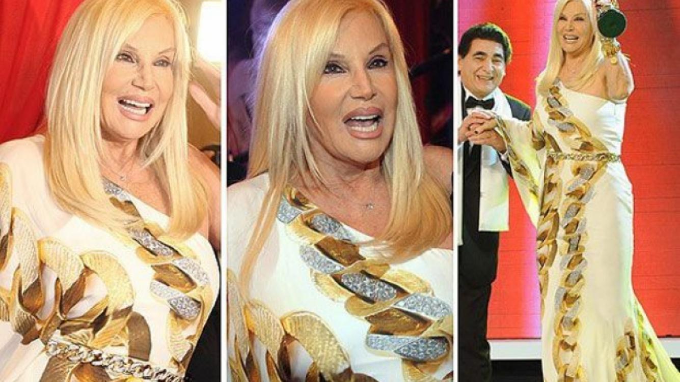 Susana Giménez, divina con un vestido de Roberto Cavalli. (Foto: Web)