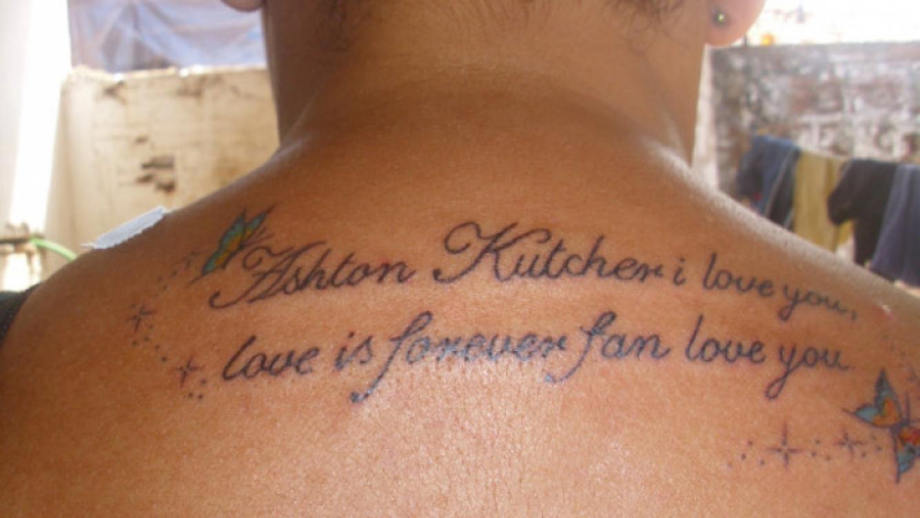 La increíble prueba de amor de una fanática por Ashton Kutcher. (Foto: Twitter)