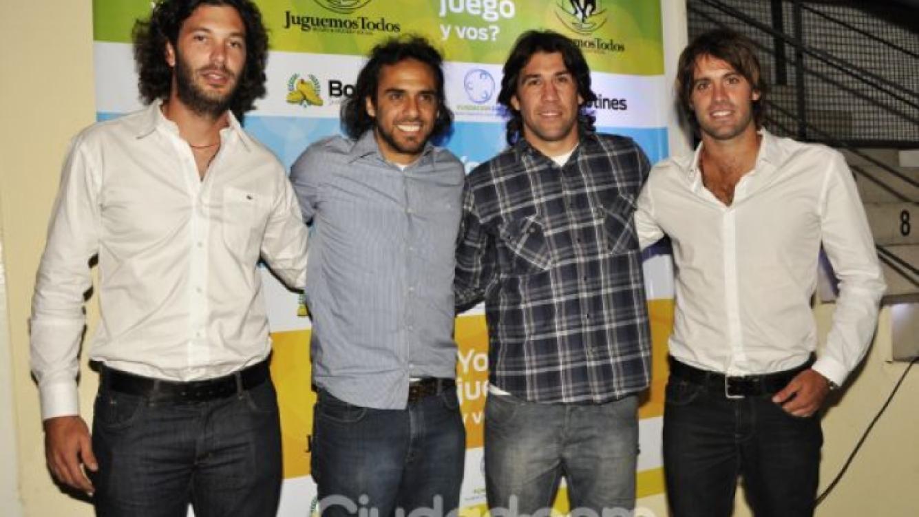José Acasuso, Mariano Zabaleta, Nani Corleto y Facundo Pieres. (Foto: Jennifer Rubio)