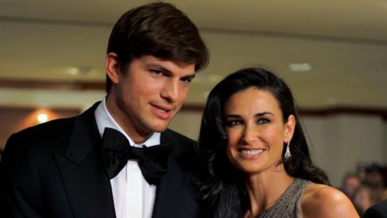 Ashton Kutcher y Demi Moore, en los buenos tiempos de la pareja. (Foto: Web)
