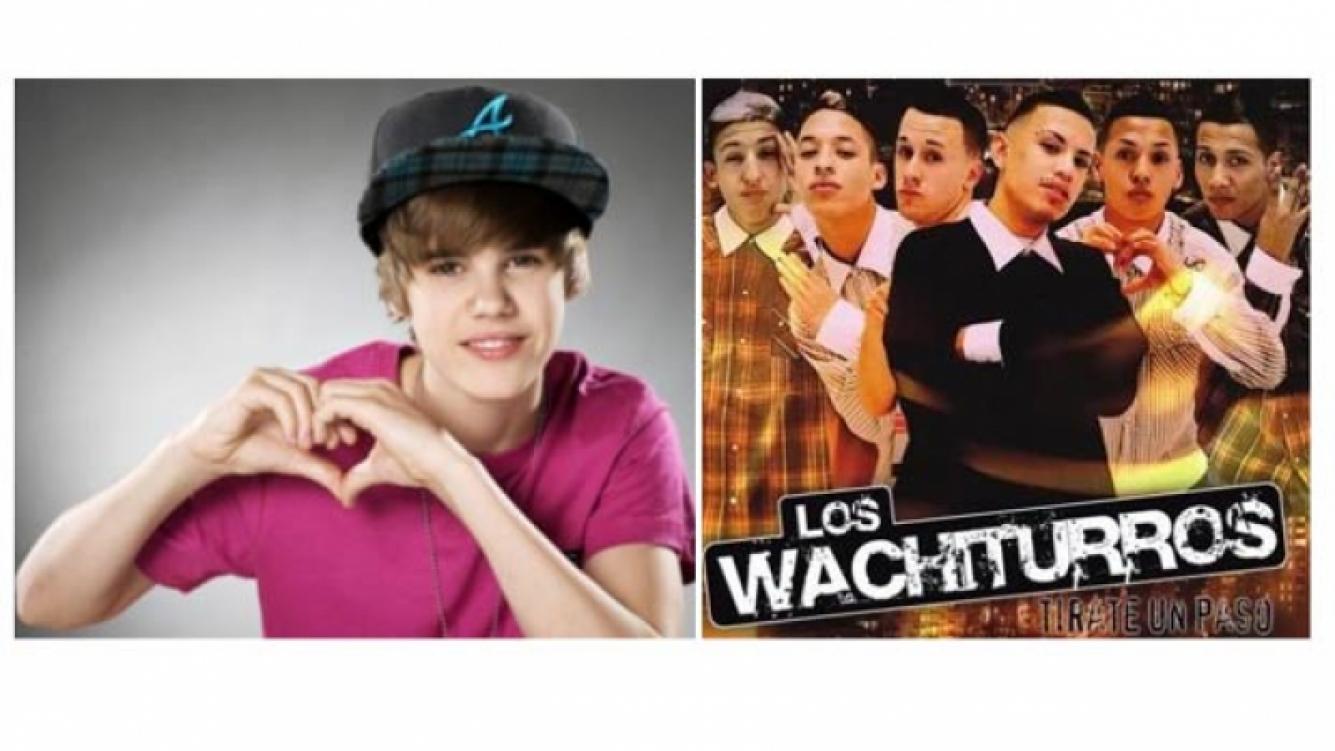 Justin Bieber y Los Wachiturros. (Fotos: Web)
