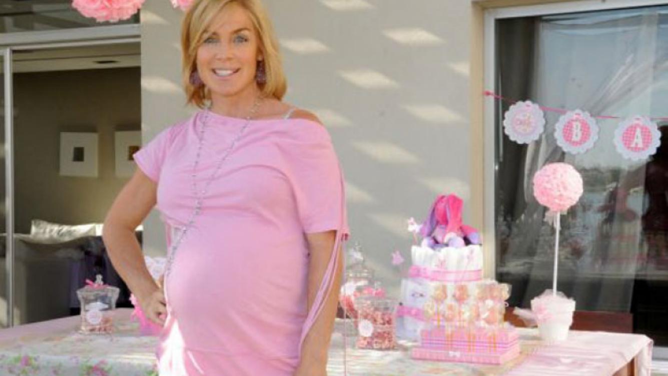 Paula Trapani se convirtió en la feliz madre de Delfina (Foto: Siria Group).