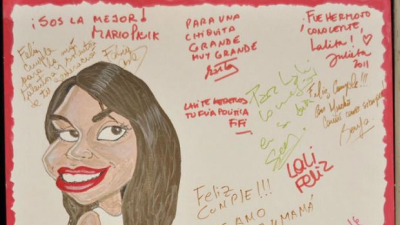 Sus seres queridos escribieron cariñosos mensajes para Lali (Foto: Jennifer Rubio).